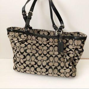 Coach signature print shoulder bag tote